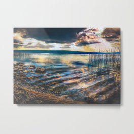 Lake Stones Ohrid Lake Ma Metal Print