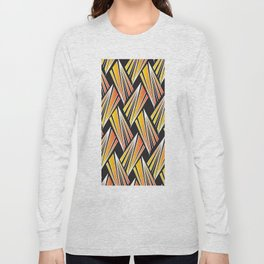 African Tribal Pattern No. 92 Long Sleeve T-shirt