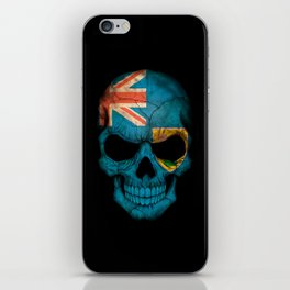 Dark Skull with Flag of Turks and Caicos iPhone Skin