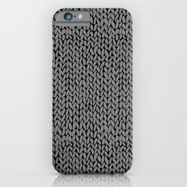 Hand Knit Dark Grey iPhone Case