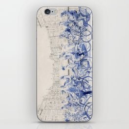 Amsterdam cyclists iPhone Skin
