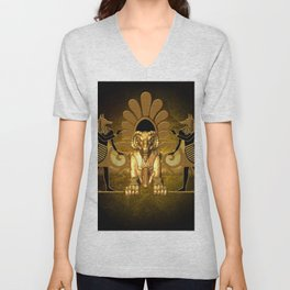 Anubis, the egyptian god Unisex V-Neck