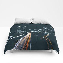 Atlanta Georgie Skyline at Night Comforters