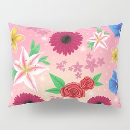 Floral collage Pillow Sham