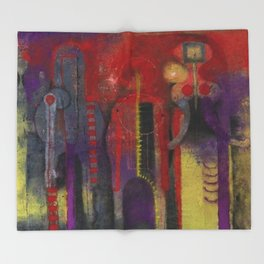 Three People by Rufino Tamayo Throw Blanket
