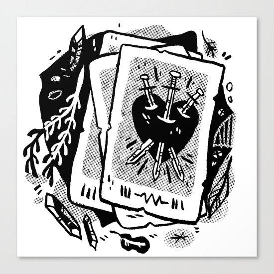 Tarot talk Canvas Print