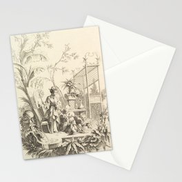 Grisaille Chinoiserie Stationery Cards