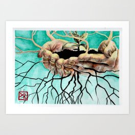Root Hands Art Print