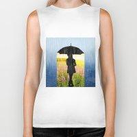 umbrella Biker Tanks featuring Umbrella by Cs025