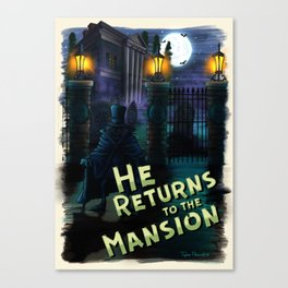 He Returns to the Mansion by Topher Adam ©2018 Canvas Print