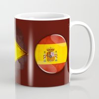 spain Mugs featuring Spain by ilustrarte