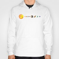 sun Hoodies featuring Solar System  by Terry Fan