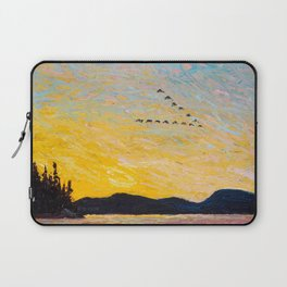 Tom Thomson - Round Lake, Mud Bay  - Canada, Canadian Oil Painting - Group of Seven Laptop Sleeve