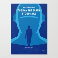 No514 My The Day the Earth Stood Still minimal movie poster Canvas Print