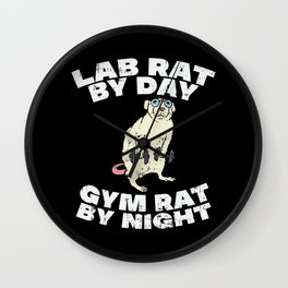 Lab Rat By Day Gym Rat By Night Wall Clock