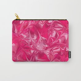 Pink Paint Swirl Carry-All Pouch