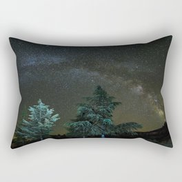 Milkyway at the mountains II Rectangular Pillow