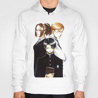 shingeki no kyojin Hoodies featuring OriSor Shingeki No Kyojin High School Fanart by Mistiqarts by Mistiqarts
