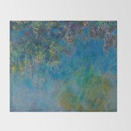 Claude Monet - Wisteria Throw Blanket