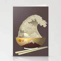 ramen Stationery Cards featuring The Great Ramen Wave by Sheharzad