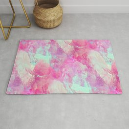Abstract glass effect Rug