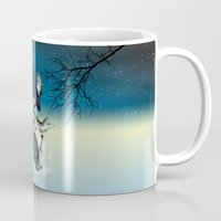 key Mugs featuring Raven's Key Night+Day by Rachel Caldwell