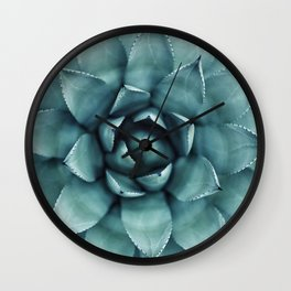 Aloe Green Agave Wall Clock