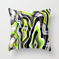neon Throw Pillows featuring Neon by Marta Olga Klara