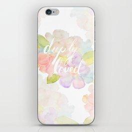 deeply loved watercolor iPhone Skin