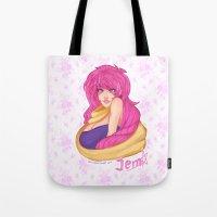 jem Tote Bags featuring Jem by Merunyaa (Meru)