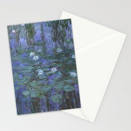 Claude Monet - Blue Water Lilies Stationery Cards