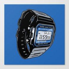 Casio F-105 Digital Watch Canvas Print