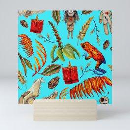 VoodoWitch Pattern #12 Blue Mini Art Print