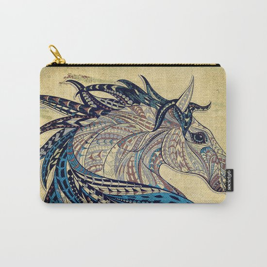 Grunge Ethnic Horse Carry-All Pouch