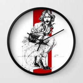 Art Nouveau Lady. Wall Clock