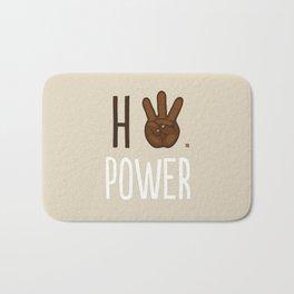 HiiiPower (w/text) : Chocolate Bath Mat