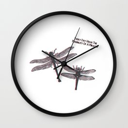 Insect dragonfly dragonflies saying quote gift Wall Clock