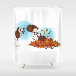 Fall Hedgie 1 Shower Curtain