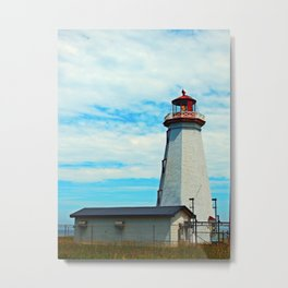 Red Light of North Cape Lighthouse Metal Print