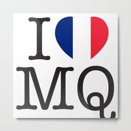 I Love Martinique Metal Print