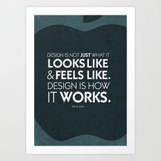 Typographic Quote Design  [Steve Jobs] Art Print