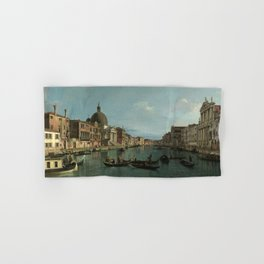 A View of the Grand Canal by Canaletto Hand & Bath Towel