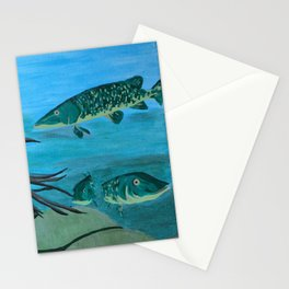Lake - Middle Panel in Tryptic Stationery Cards