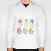mermaids Hoodies featuring Mermaids by Judy Oliva