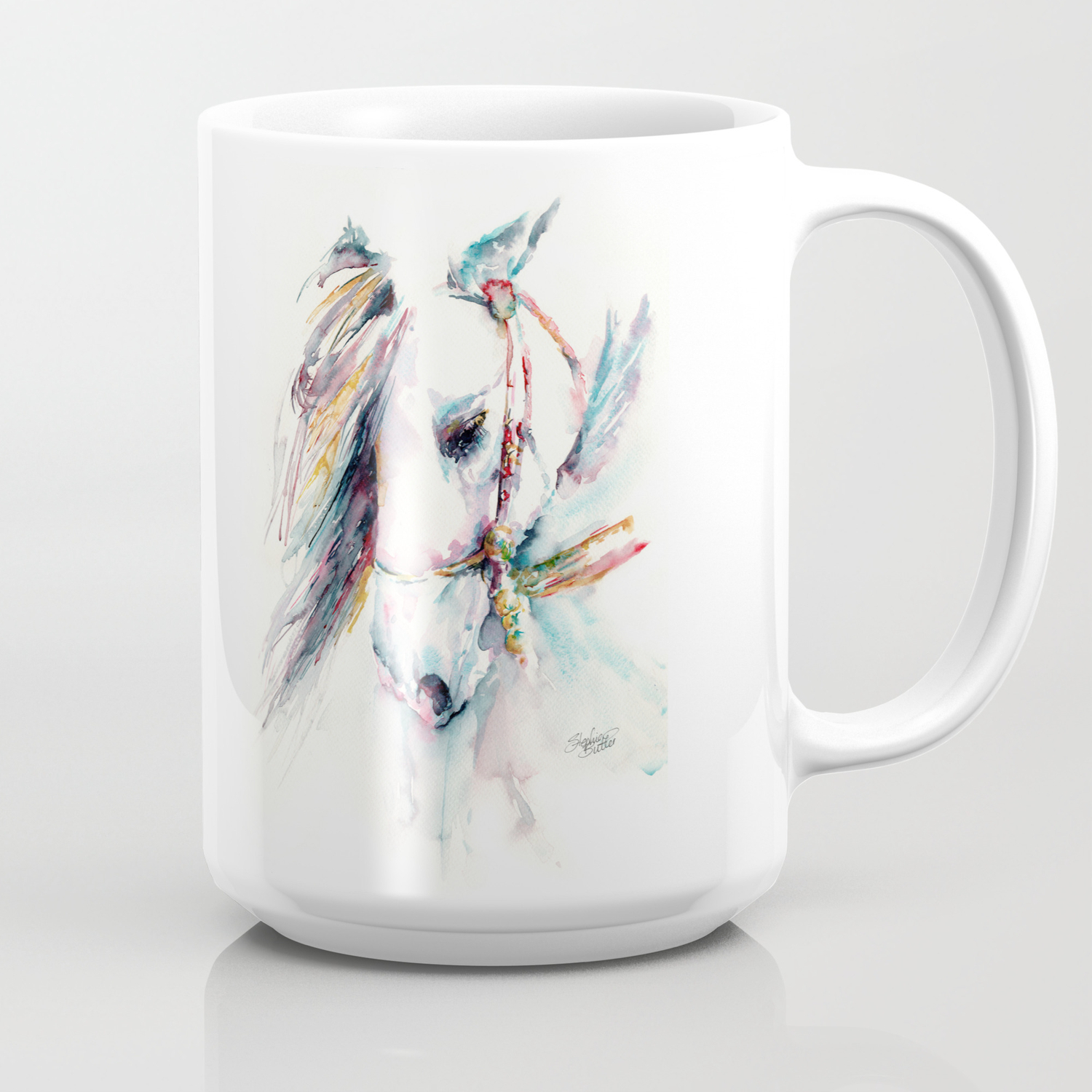 Fantasy White Horse Coffee Mug By Stephiebutler Society6