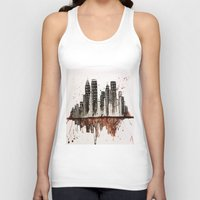 nyc Tank Tops featuring NYC by Rosalia Mendoza