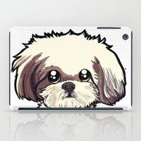 shih tzu iPad Cases featuring Alice (Shih Tzu) by BinaryGod.com