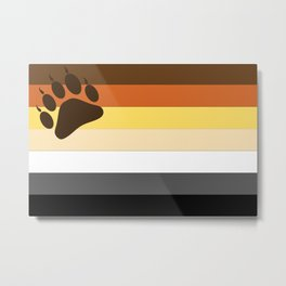 Bear Flag Paw Edition Metal Print