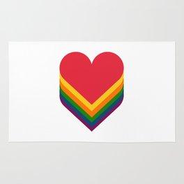 Heart rainbow Rug