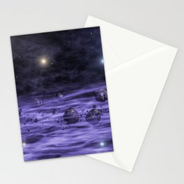 Asteroids in space nebula Stationery Cards
